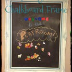 Framed Magnetic Chalkboard Wall