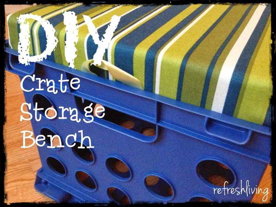 Kids' Crate Storage Bench