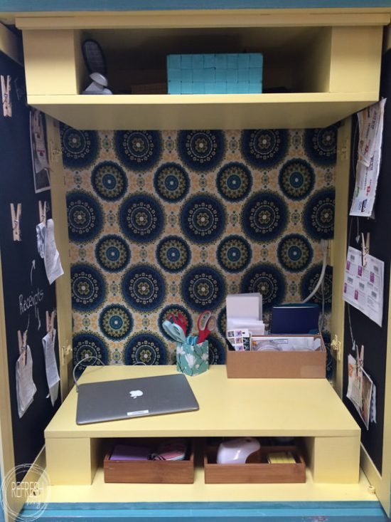 Transform An Old Media Cabinet Into A Hidden Desk And Command Center