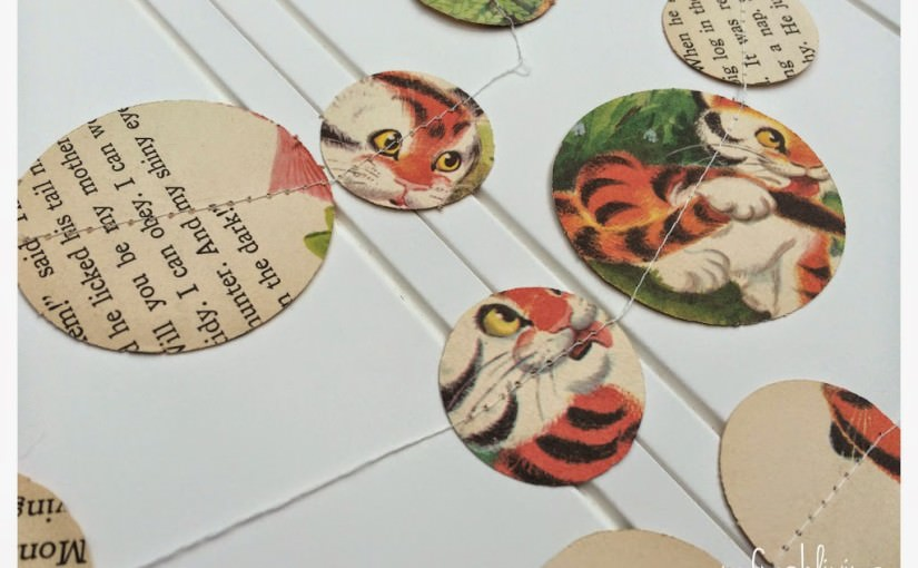 Vintage Children's Book Paper Garland