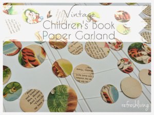Children's Book Paper Garland