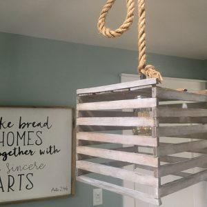 Farmhouse Light Fixture from an Old Egg Crate