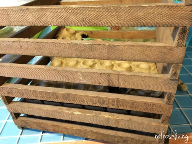 Farmhouse Light Fixture From An Old Egg Crate Refresh Living