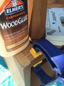 How to repair splitting wood on furniture