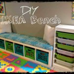DIY Storage Bench with IKEA Shelf