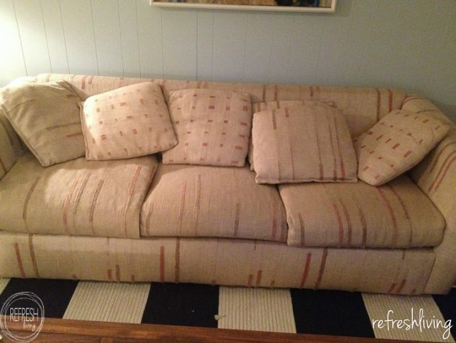 Diy Drop Cloth Slipcover Refresh Living