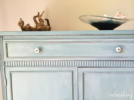 Dresser update with Miss Mustard Seed in Luckett's Green and French Enamel