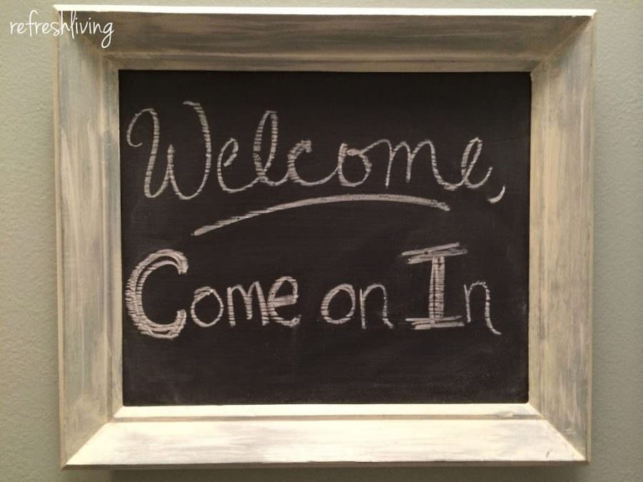 Painting Chalkboard Paint on Glass - Refresh Living