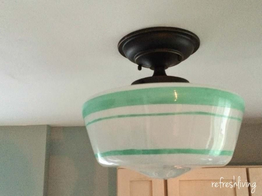 turquoise school house light