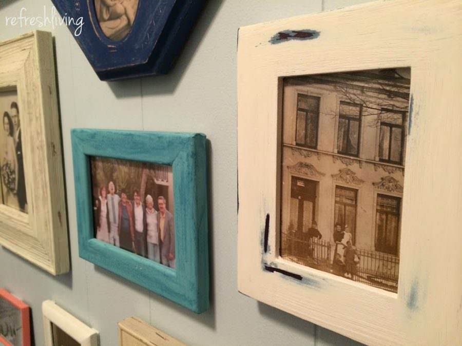Picture Frame Gallery Wall Refresh Living