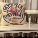 Oatmeal Grain Sack Pillows