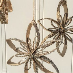 Toilet Paper Tube Snowflake Ornaments