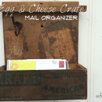 Egg & Cheese Crate Upcycled Mail Organizer