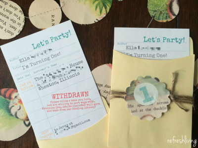 book theme party shower invitations