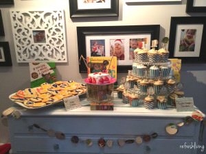 book theme dessert table