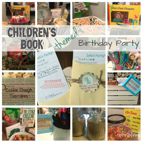 book theme birthday party baby shower