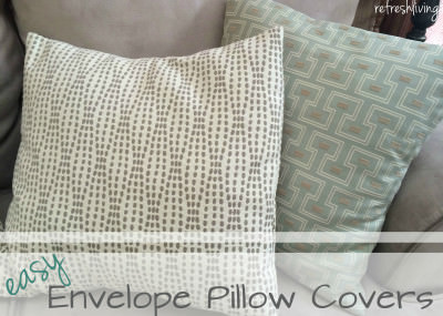 easy sew envelope pillow cover