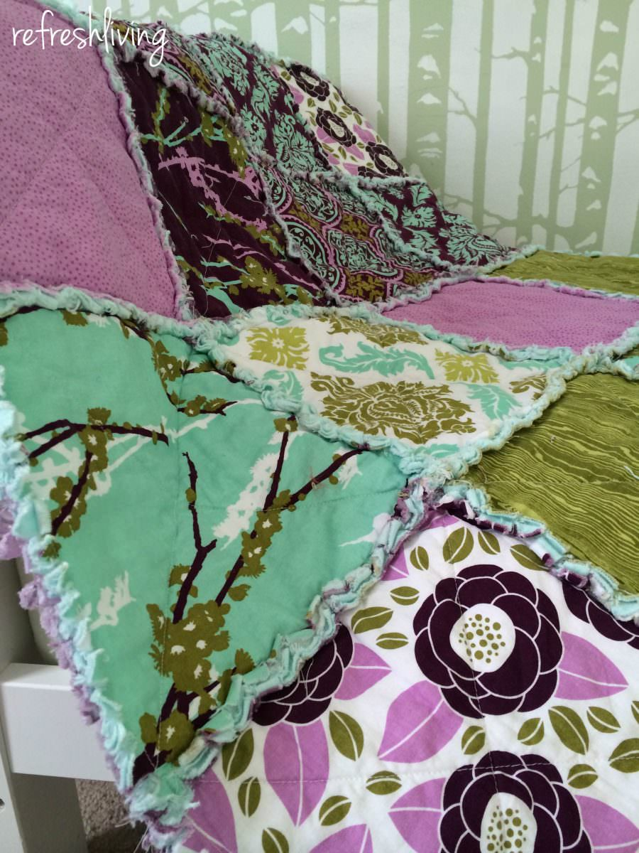 Rag Quilt Tutorial Refresh Living