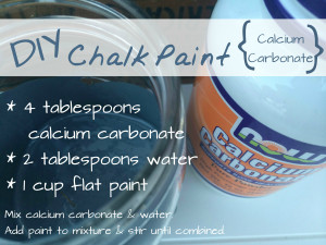 chalk paint with calcium carbonate