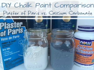 the best recipe for diy chalk paint | calcium carbonate vs. plaster of paris | chalkboard paint | homemade chalk paint