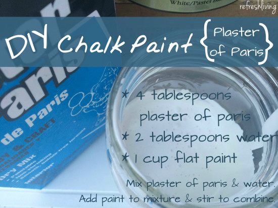 plaster of paris chalk paint