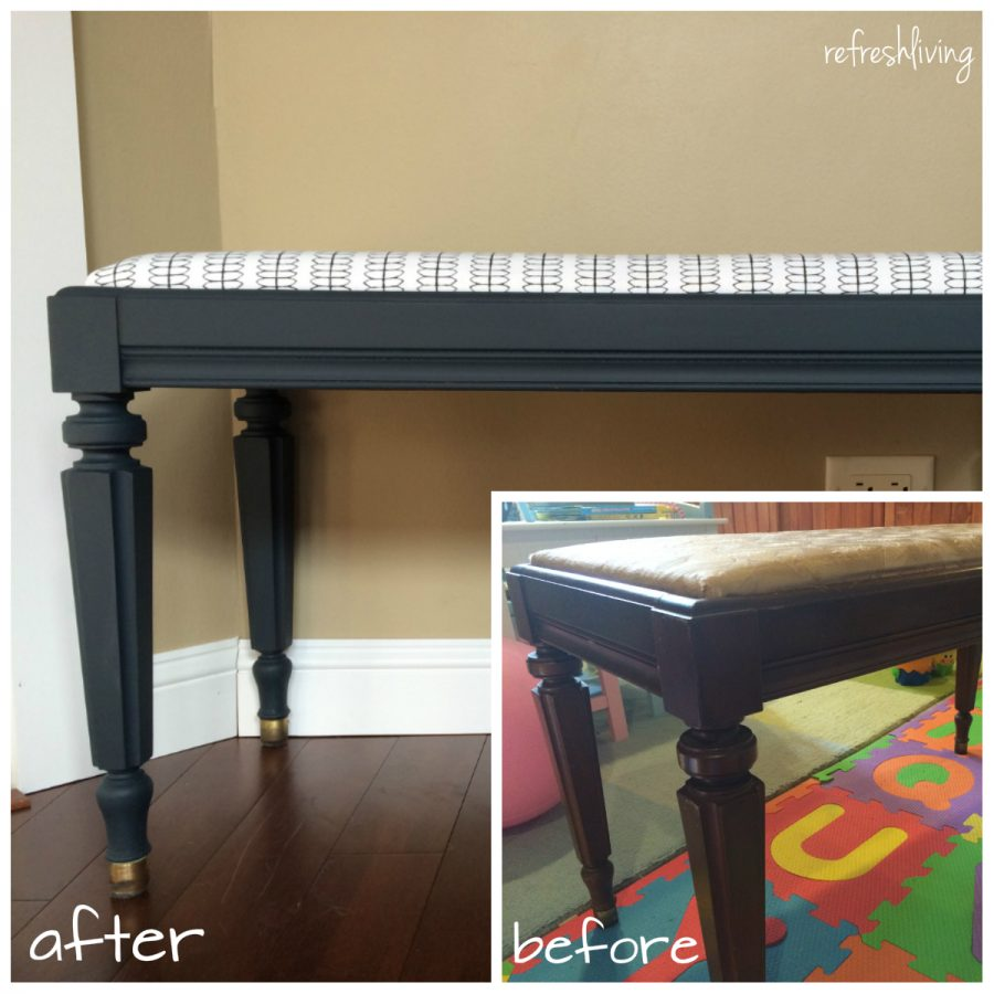 refinished bench & Reupholstered Piano Bench islam-shia.org