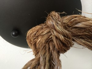 diy rope pendant light