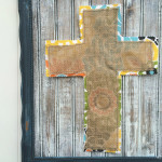 Easter Frame with DIY Distressed Wood Tutorial