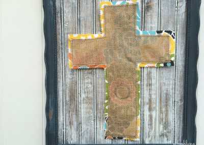 DIY distressed wood frame