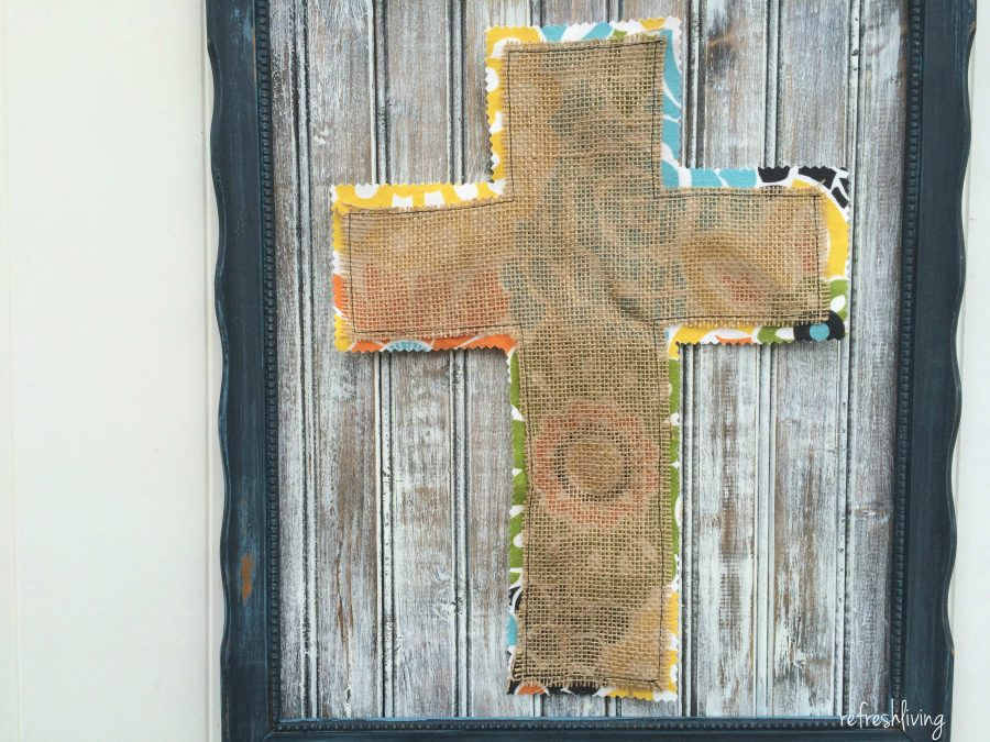 Easter Frame with DIY Distressed Wood Tutorial - Refresh Living