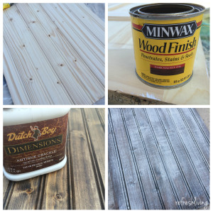 DIY distressed barnwood