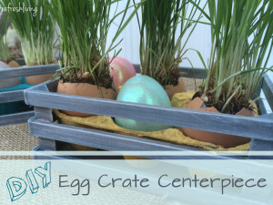 reused egg crate diy easter egg centerpiece