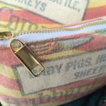 Upcycled Grain Sack Zippered Bag