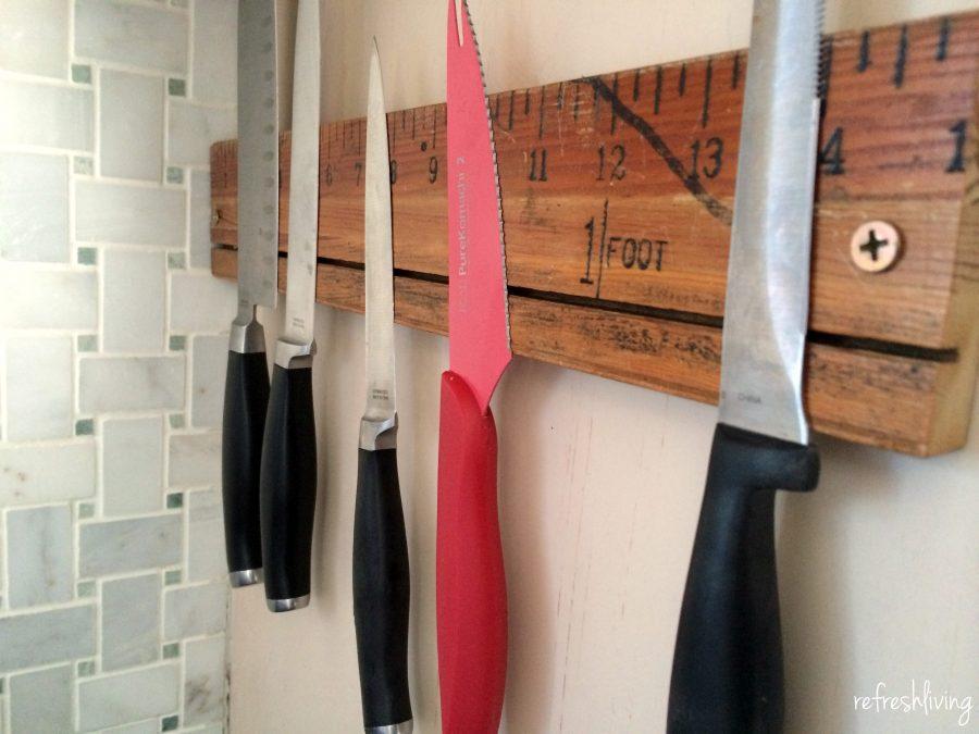 Vintage Ruler Magnetic Knife Rack Refresh Living