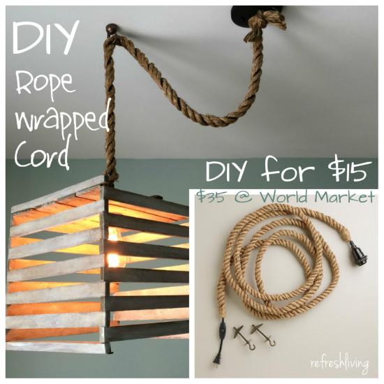 jute rope pendant cord