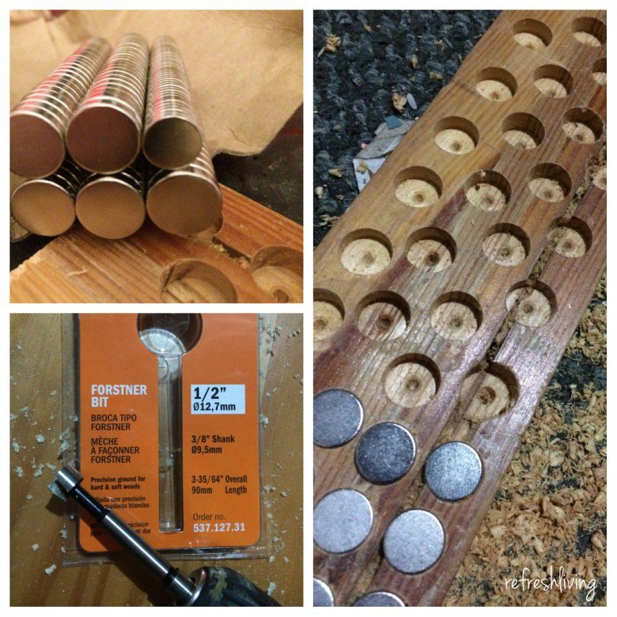 Diy Wood Magnetic Knife Holder Refresh Living