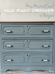 antique painted dresser