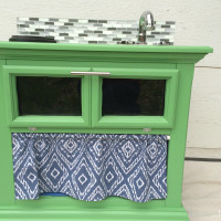 DIY Play Kitchen from an Old Nightstand