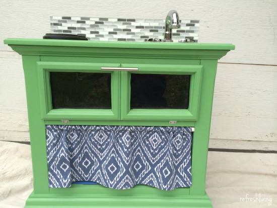 DIY Nightstand Play Kitchen