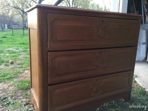 painted antique dresser