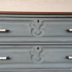 Simple Milk Paint Dresser Update