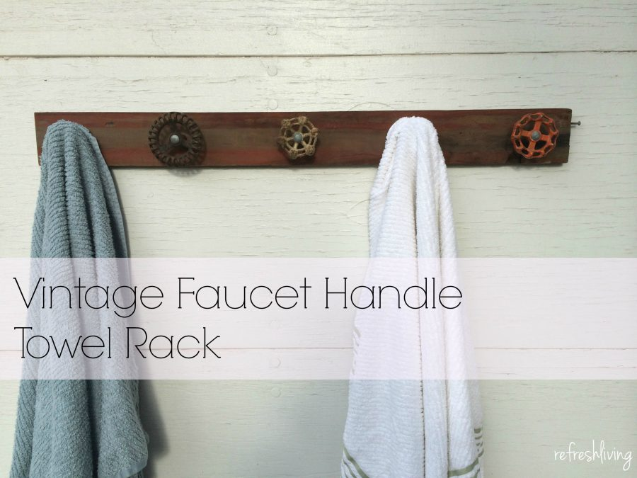 Upcycled Faucet Handle Towel Rack - Refresh Living