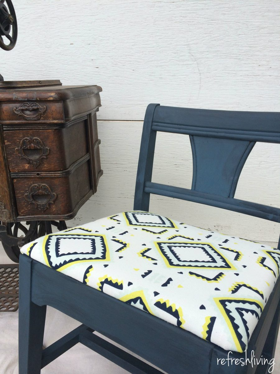 vintage sewing chair & Vintage Sewing Chair Gets a Facelift - Refresh Living