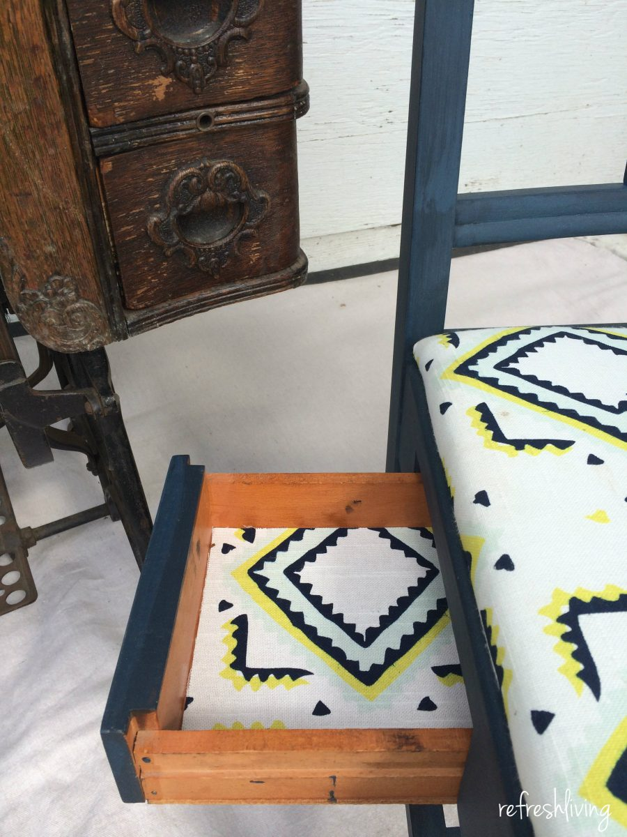 vintage sewing painted chair - Vintage Sewing Chair Gets A Facelift - Refresh Living