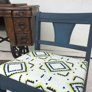 Vintage Sewing Chair Gets a Facelift