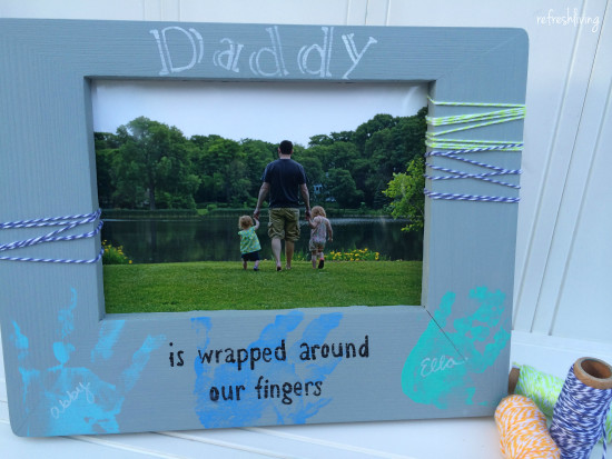 DIY fathers day gift picture frame