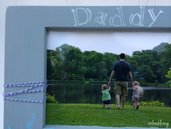 diy handprint frame, fathers day