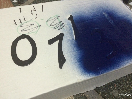 spray paint address numbers