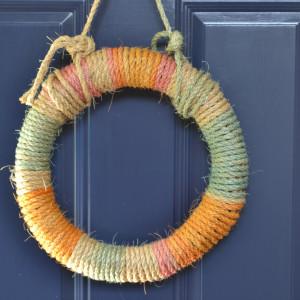 DIY Tie-Dyed Rope Wreath