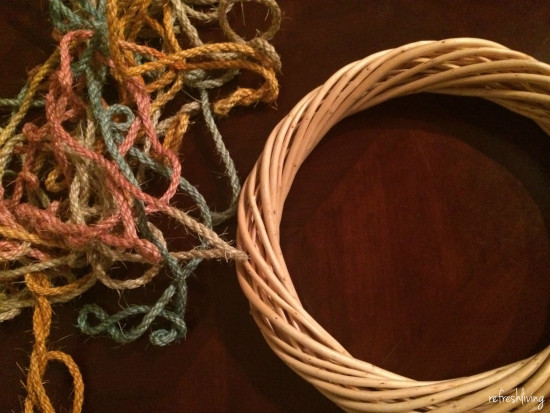 diy rope wrapped wreath